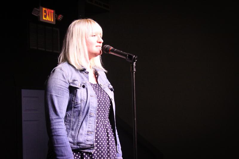 Lauren Hurston prepares for the show. (Photo: Amber Nettles)